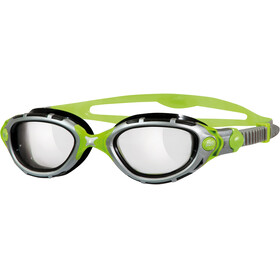 Zoggs Predator Flex Titanium Reactor Goggle Silver/Green